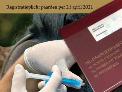 Registratie paard per 21 april 2021